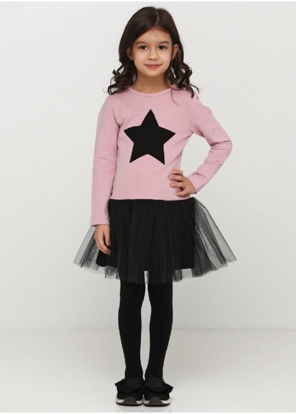 Платье для девочек - G-21872W_пудра