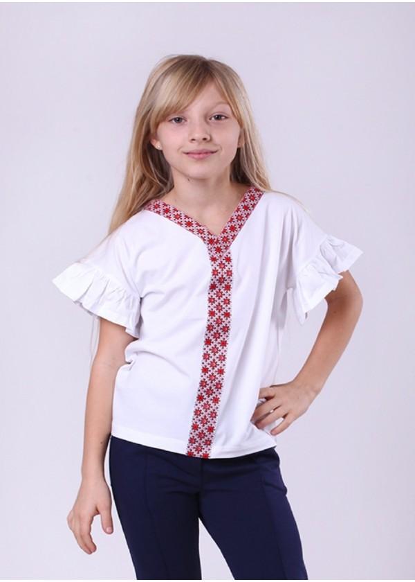 Кофта для дівчаток - G-19903W_белый с красным