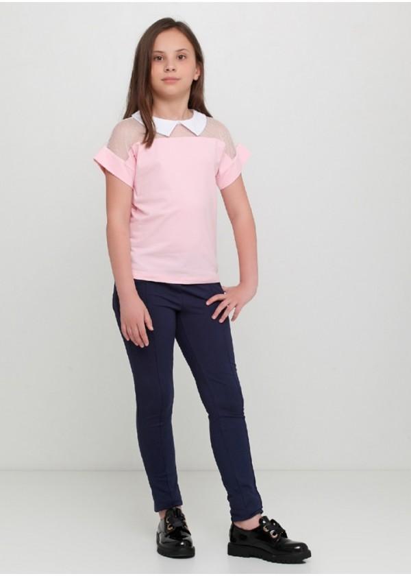 Футболка для девочек - G-19596S_розовый